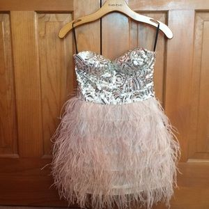 Bebe Sequin Cocktail Party Dress